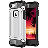 iPhone 6 Case, iPhone 6S Cover, [Survivor] Military-Duty Case - Shockproof Impact Resistant Hybrid Heavy Duty [armor case] Dual Layer Armor Hard Plastic And Bumper Protective Cover Case for Apple iPhone 6 / 6S [SHOCKPROOF] Cover, (SILVER)