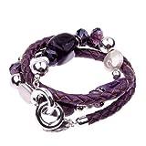 Giulu Kette/Armband in Lila