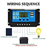 Techtest LCD Display 10A 30A amp Solar USB Charge Controller Regulator 12V/24V Auto
