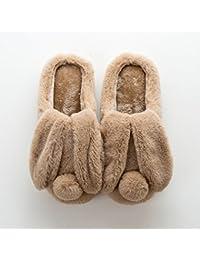 57d801a65ab0b YMFIE Señoras Invierno Zapatillas de algodón Preciosa casa térmica Felpa Zapatillas  Zapatos ...