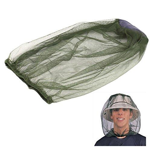 Hinmay Mosquito Head Net, MIDGE Insekten Net Hat Bug Mesh Face Protector für Reisen Camping Angeln, grün