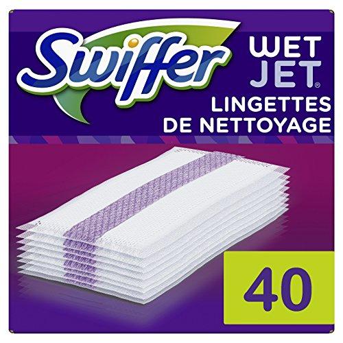 Swiffer Wetjet Besen Spray Refill Reinigungstücher für alle Böden, 2er Pack (2 x 20 Stück) - Spray Refill