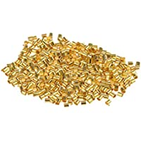 600pcs Crimp Tubo Chapado En Oro Engarzado Perlas Joyas Extremo - Oro, 2 * 2 Mm