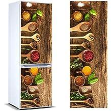 Vinilo para Frigorífico Especias 185x60cm | Adhesivo Resistente y Económico | Pegatina Adhesiva Decorativa de Diseño