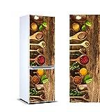 Vinyle adhésif pour les réfrigérateurs autocollants stickers frigo épices de différente taille 185x60 cm| Adhésive Résistant et facile d'appliquer |Étiquette Adhésive Décorative d'une conception élégante|