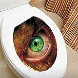 Weaeo Horror Leuchtend Grünen Augen 3D Wall Sticker Loch View Bad Wc Wohnzimmer Dekoration Aufkleber Poster Hintergrund Wall Sticker
