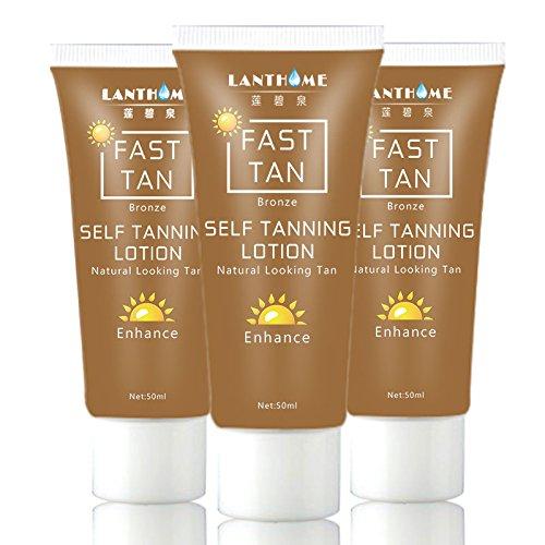 Tan Enhancer (Bluelover Sonnenbräune Fast Tan Enhancer Beauty Schwarz Körpercreme Bronzer Lotion Natürlich Aussehende Verbessern 50Ml)