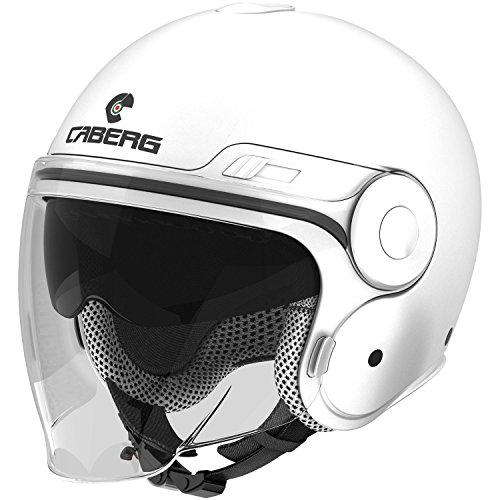 Caberg Uptown Italia motocicleta Jet Casco termoplástico–Blanco verde rojo