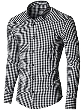 MODERNO - Camicia a Quadri Uomo (MOD1458LS)