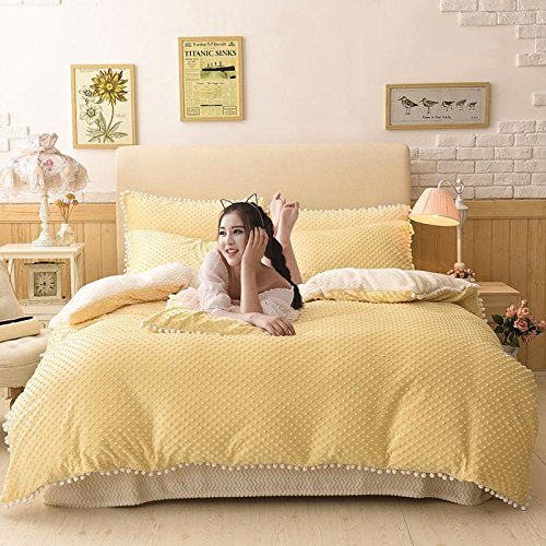 processo di modellazione Fa sentire raffinato velluto principessa bambino assestamento una famiglia di quattro size 1.5-1.8m , yellow ,