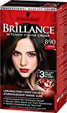 Brillance Intensiv-Color-Creme 890 Schwarz, 3er Pack (3 x...