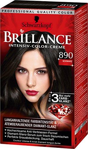 Brillance Intensiv-Color-Creme 890 Schwarz, 3er Pack (3 x 143 ml)