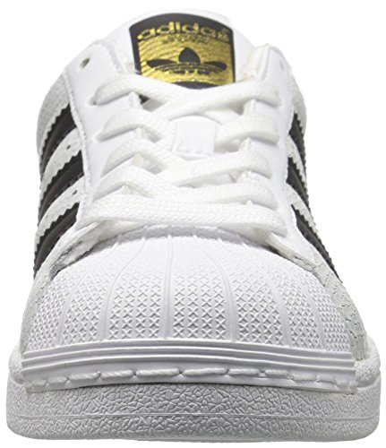Adidas Youth Superstar Reptile Leather Trainers Footwear White Core Black