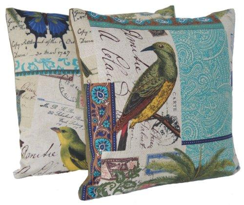 Vögel und Schmetterlinge, die kissen Türkis Paare Kisenbezüge Muster Tokelau Inseln Postkarte, 40x40cm