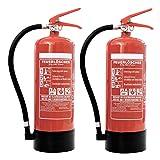 Feuerlöscher 2x 6kg ABC-Pulverlöscher mit Manometer EN 3 inkl. ANDRIS® Prüfnachweis mit Jahresmarke