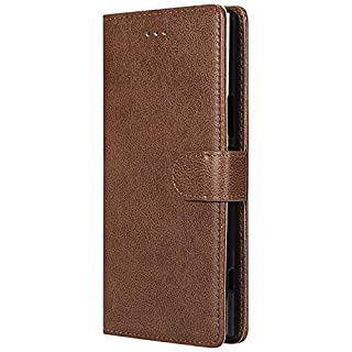 BoxTii Sony Xperia XZ Premium Case, Detachable PU Leather Cover, 2 in 1 Magnetic Wallet Case with Free Tempered Glass Screen Protector for Sony Xperia XZ Premium (Brown)