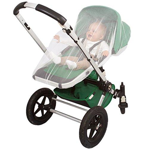 PREMIUM KINDERWAGEN MÜCKENNETZ, Moskitonetz passt auf die meisten Kinderwägen, Babytragen, Autositze & Wiegen, Geschenktasche & eBook, Weicher Beständiger Fliegenschutz, 100% Zufriedenheitsgarantie