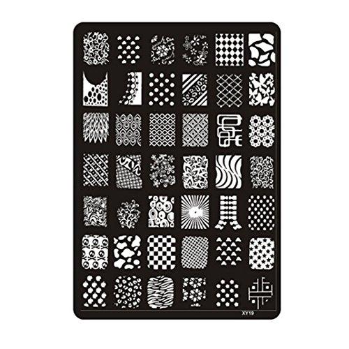 TOOGOO estampage de plaque d'impression d'image a ongles , couleur de l'acier XY19