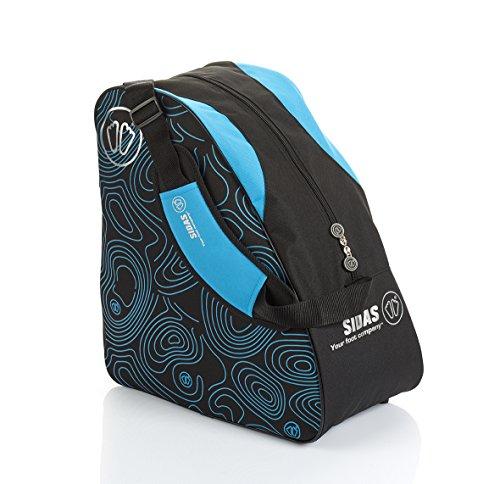 Sidas Boot Bag Black & Blue - Sac à chaussures de ski Sidas en Nylon noir et bleu