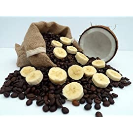 Coconut and Banana Flavoured Coffee (1kg, Beans)