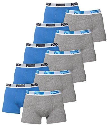 PUMA Herren Basic Boxer Boxershort Unterhose 10er Pack, Herbst/Winter 17/18,