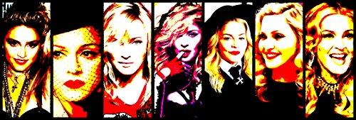 Madonna–Bild moderne handbemalt–Pop Art Effect (Format 150x 50cm) (Shirt Tour 2006)