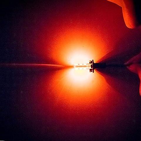 HIDRRU T10 194 168 W5W 5630 smd 6 LED étanche 5730 gel de silice Wedge Light Car son tour de la plaque d'identification de feu ampoule 12V parking,Red