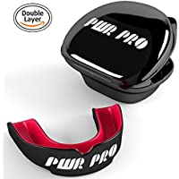 PWRPRO Protector bucal, rojo & negro, Adult 11+