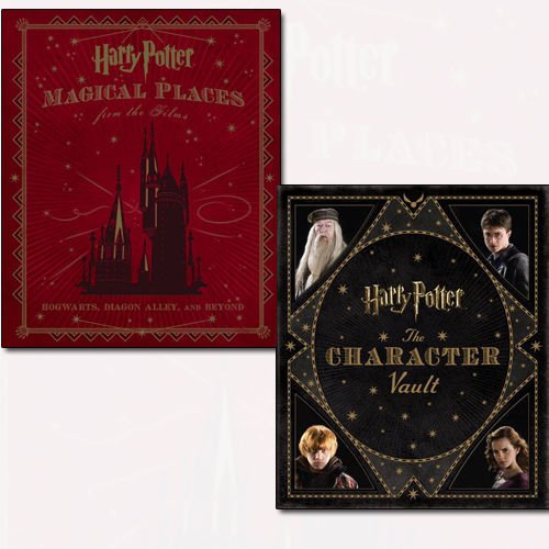 Magical Places from the Films and The Character Vault 2 Books Bundle Harry Potter Collection