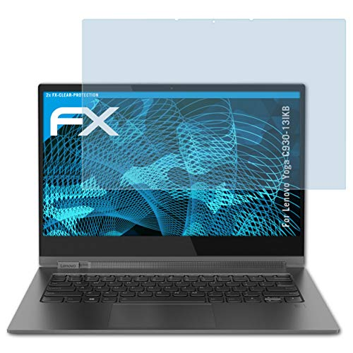 atFolix Schutzfolie kompatibel mit Lenovo Yoga C930-13IKB Folie, ultraklare FX Bildschirmschutzfolie (2X)