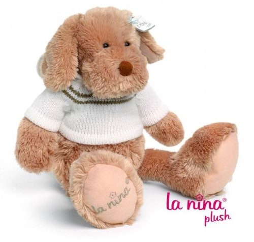 La Nina Plush - Peluche cane marrone e bianco - 25 cm mm