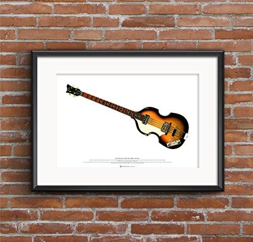 1963 Hofner 500/1 bajo del violín CARTEL DEL ARTE tamaño A2 de Paul McCartney