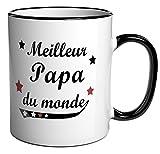 """Tasse à café / Cadeau message """"Meilleur Papa du monde"""""""