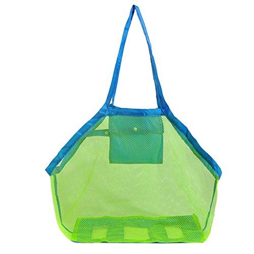 Preisvergleich Produktbild MagiDeal Faltbar Strand Tasche kinder Strand Spielzeug mesh Sandtasche Sandspielzeug Aufbewahrung Netz Tasche