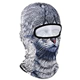 Pinzhi 3D Tier Fahrrad Radfahren SkimüTze Balaclava Volle Gesichtsmaske Katze Hund (Color4)