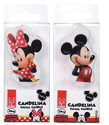 Vela Mickey de 4,5cm-cumpleaños Mickey por modecor