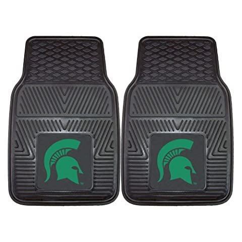 FANMATS 8918 Michigan State University Spartans Front Heavy Duty Vinyl Car Mat - 2 Pieces