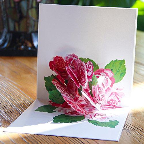 Papier Spiritz Flower Pop Up Karten Geburtstag Weihnachten Blume 3D Grußkarte 5.91*5.91 In Florid Flower