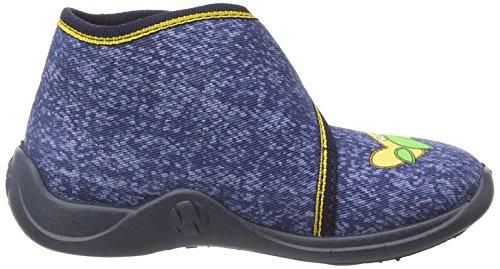 RohdeKiddie - Pantofole alte senza imbottitura Ragazzo Blu (Blau (56 Ocean))