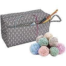 talogca Bolsa de Almacenamiento de Lana Bolsa de Ovillos Organizador para Lanas Bolso de Crochet,