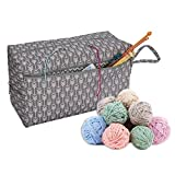 Dream-cool Stricktaschen für Wolle und Nadeln, Aufbewahrungstasche für Garn, Aufbewahrungstasche, stabil, tragbar, Premium-Garn, Aufbewahrungstasche für Häkelnadeln und Garn, a, Large