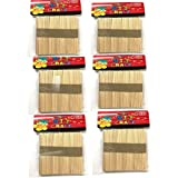 Red Rock Wooden Ice Cream Popsicle Sticks (Multicolour) - Set of 300 Pieces