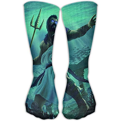 Griechische Mythologie Gott des Meeres Poseidon Underwater Fighting Mens Socks Damensocken 30cm