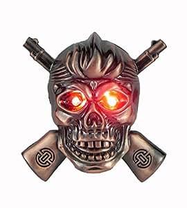 FCS Skull-Gun Shaped Butane Flame Cigarette Lighter With Sound & Light.