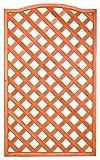 Pannello grigliato sagomato in legno trattato 4 pz 90x180 cm immagine
