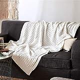 WANMT Wohn Kuscheldecken Sommer dünne Baumwolle Dicke Linie Stricken Decke Sofa dekorative Decke Büro Mittagspause Klimaanlage Decke, 180cm * 200cm