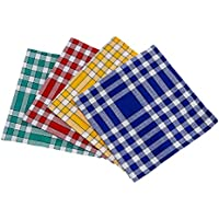 Bricout - Linge - Lot De 4 Serviettes De Table Carreaux Normands - 100% Coton - 210 Gr/M2 - Dimensions - 50X50 Cm - Label Oeko - Tex