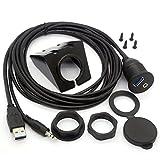 USB 3.0 Flush Mount Kabel - USB 3.0 und 3.5mm Aux Verlängerung Mount, Flush, Dash, Panel Mount Kabel 1/8 AUX für Auto