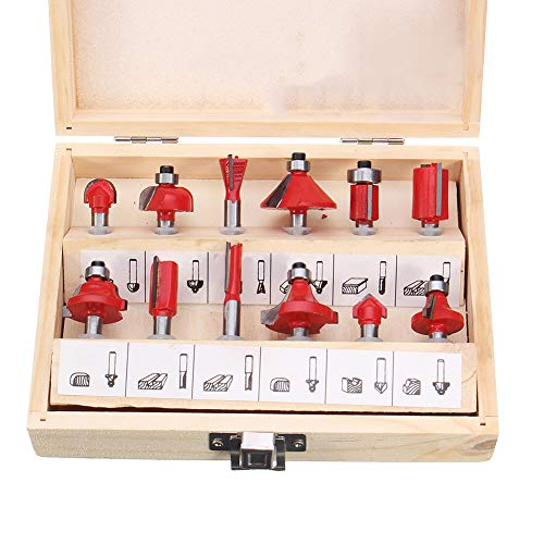 Danigrefinb Lot de 12 forets de coupe en carbure de tungstène avec tige 1/4, Couleur aléatoire
