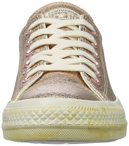 Cuir Converse Chucks Rose Gold Metallic 542439C CTAS saisonnière Rose or blanc rose gold/white